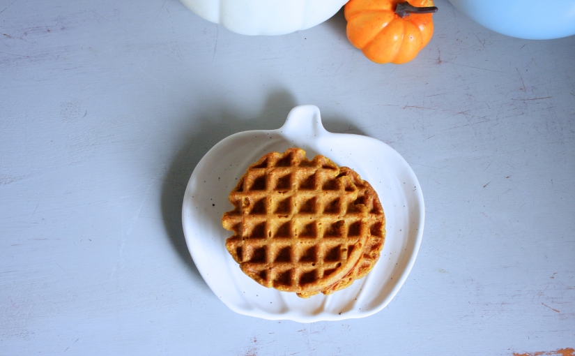 Pumpkin and Oat Blender Waffles